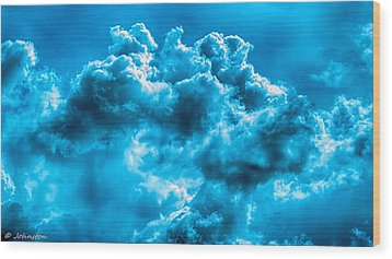 Natural Abstract Creations No 101 Wood Print by Bob and Nadine Johnston