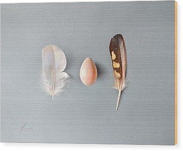 Wood Print featuring the drawing Natural Beauty by Elena Kolotusha