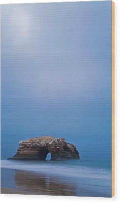 Natural Bridge And Its Reflection Wood Print