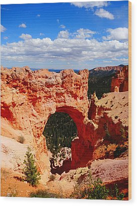 Natural Bridge In Bryce Canyon National Park Wood Print by Dan Sproul