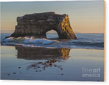 Natural Bridge Wood Print by Suzanne Luft