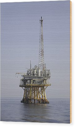 Wood Print featuring the photograph Natural Gas Platform by Bradford Martin