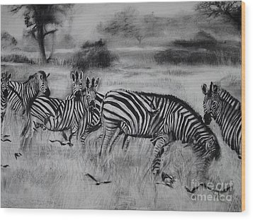 Natural Habitat  Wood Print by Laneea Tolley