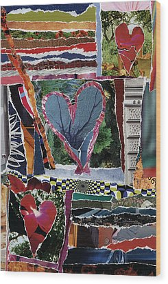 Natural Love Wood Print by Kenneth James