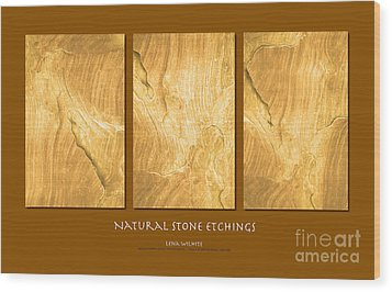 Wood Print featuring the photograph Natural Stone Etchings by Lena Wilhite