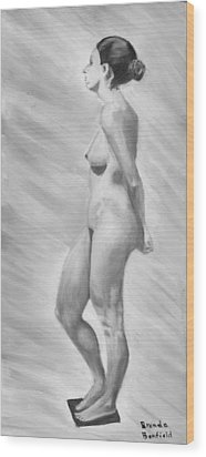 Natural Woman Wood Print by Brenda Bonfield