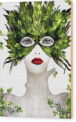 Natural Women Wood Print by Yosi Cupano