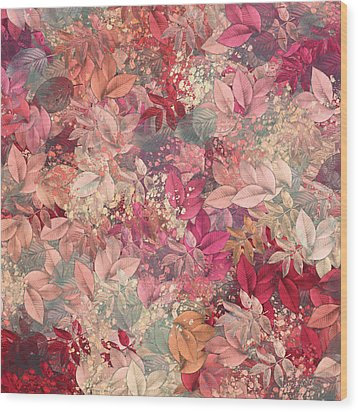 Naturaleaves - S65b Wood Print by Variance Collections