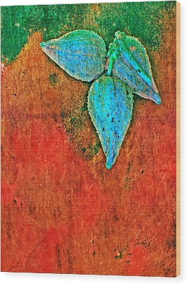 Nature Abstract 11 Wood Print by Maria Huntley