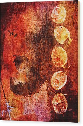 Wood Print featuring the digital art Nature Abstract 3 by Maria Huntley