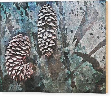 Nature Abstract 87 Wood Print by Maria Huntley