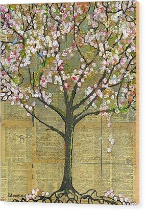 Nature Art Landscape - Lexicon Tree Wood Print by Blenda Studio