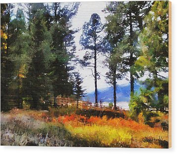 Wood Print featuring the painting Nature Escape 1 by Wayne Pascall