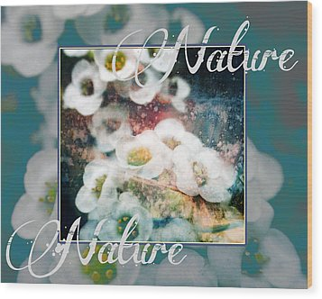 Wood Print featuring the painting Nature Floral Bouquet by John Fish