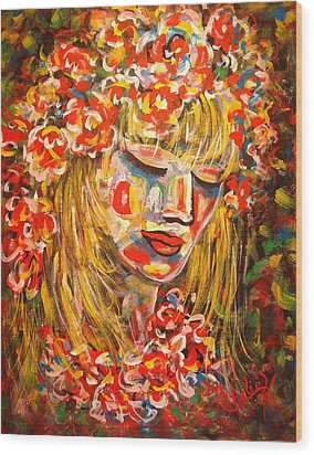 Nature Girl Wood Print by Natalie Holland