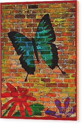 Nature On The Wall Wood Print by Leanne Seymour