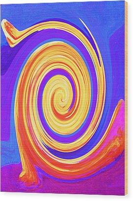 Nature Twirling Wood Print by Margaret Saheed