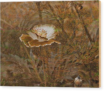 Wood Print featuring the digital art Nature's Artistry At Work by J Larry Walker