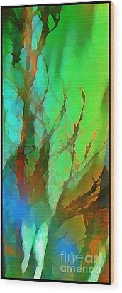 Natures Beauty Abstract Wood Print by John Malone