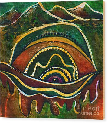 Nature's Child Spirit Eye Wood Print