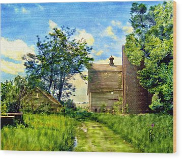 Nature's Farm Reclamation Project Wood Print