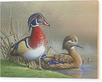 Wood Print featuring the painting Nature's Palette by Mike Brown