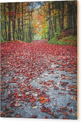 Nature's Red Carpet Wood Print by Edward Fielding