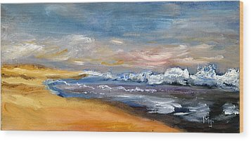 Nauset Beach Surf Wood Print
