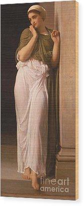 Nausicaa Wood Print by Frederic Leighton