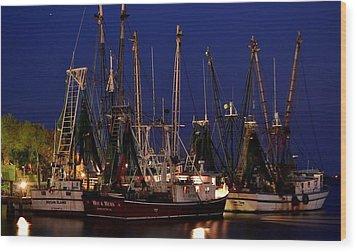 Nautical Blue Wood Print