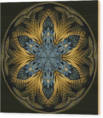 Nautical Star Wood Print by Cindi Ressler