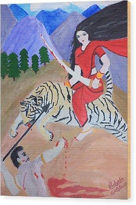 Nava Durga Kaatyayani Wood Print