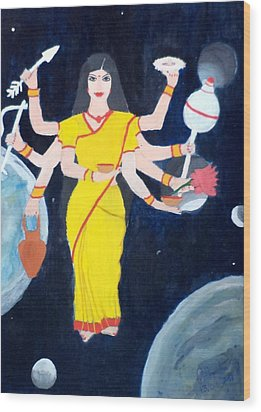 Nava Durga Kusmaanda Wood Print