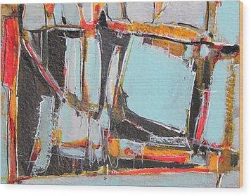 Navajo Blanket And Morning Sky Wood Print by Hari Thomas