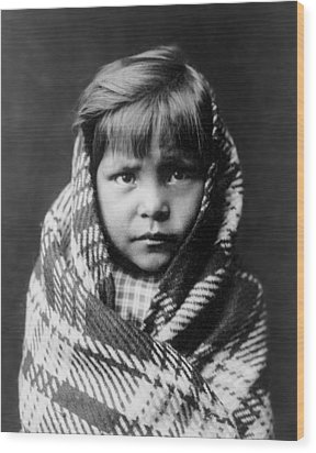 Navajo Child Wood Print by Aged Pixel