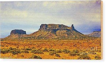 Navajo Nation Monument Valley Wood Print by Bob and Nadine Johnston