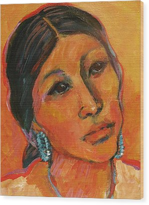 Navajo Woman Wood Print