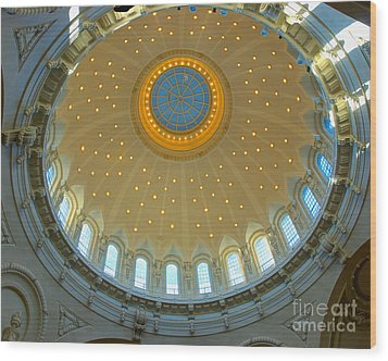 Naval Academy Chapel Side Dome Wood Print