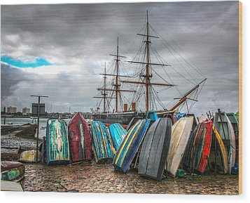 Naval History Wood Print by Ross Henton