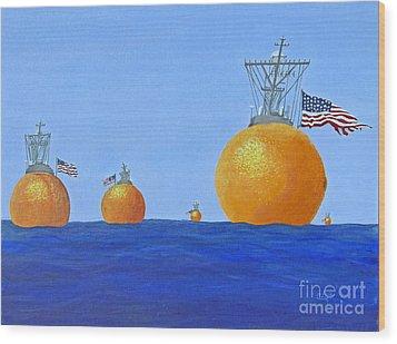 Naval Oranges Wood Print by Cindy Lee Longhini