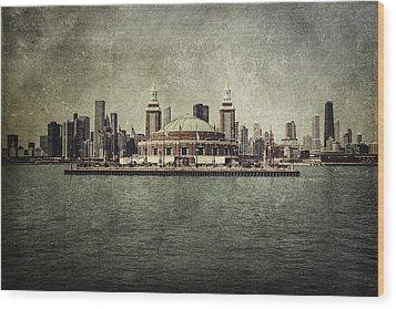 Navy Pier Wood Print by Andrew Paranavitana