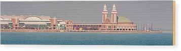 Navy Pier Brief Wood Print by Cliff C Morris Jr