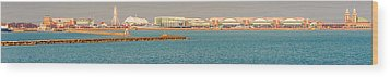 Navy Pier Wood Print by Cliff C Morris Jr
