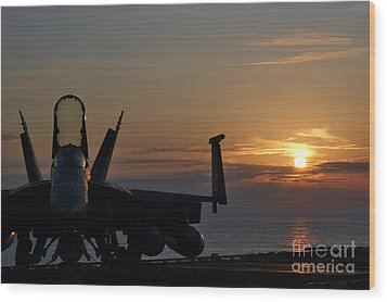 Navy Super Hornet Wood Print by John Swartz