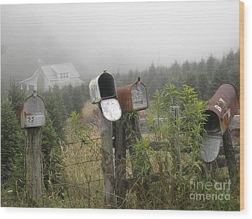Nc Mailboxes Wood Print