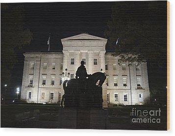 Nc State Capital Wood Print