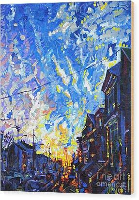 Near Misses In New Brunswick Wood Print by Michael Ciccotello