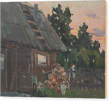Near The Russian Bath Wood Print by Juliya Zhukova