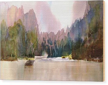 Near Yosemite Wood Print
