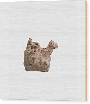 Nebatean Terracotta Vessel Wood Print by Science Photo Library